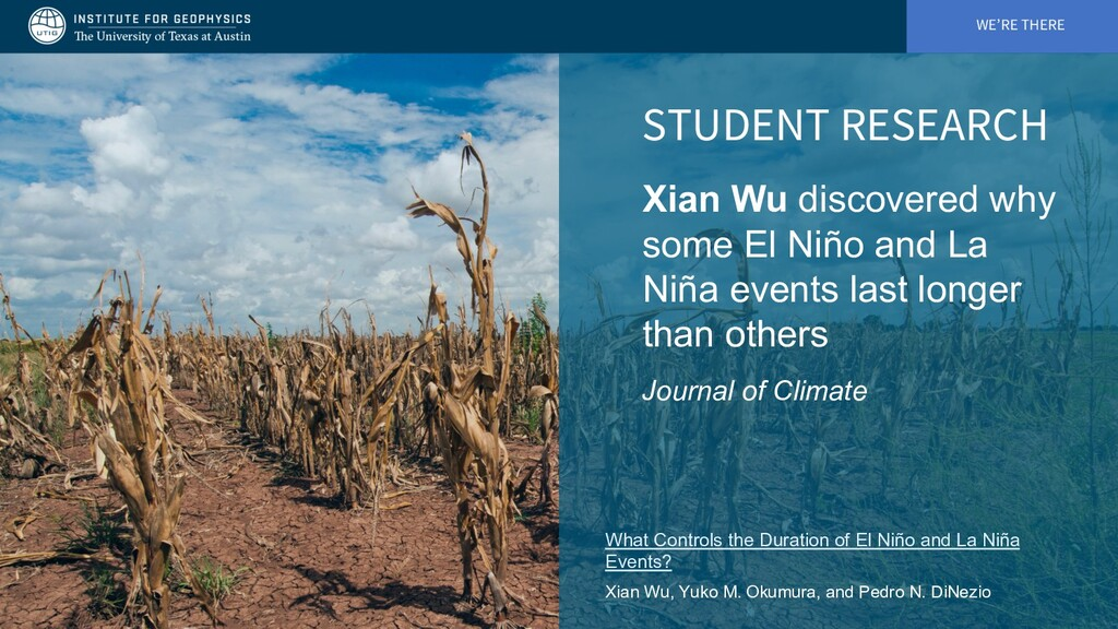 WE'RE THERE STUDENT RESEARCH Xian Wu discovered...