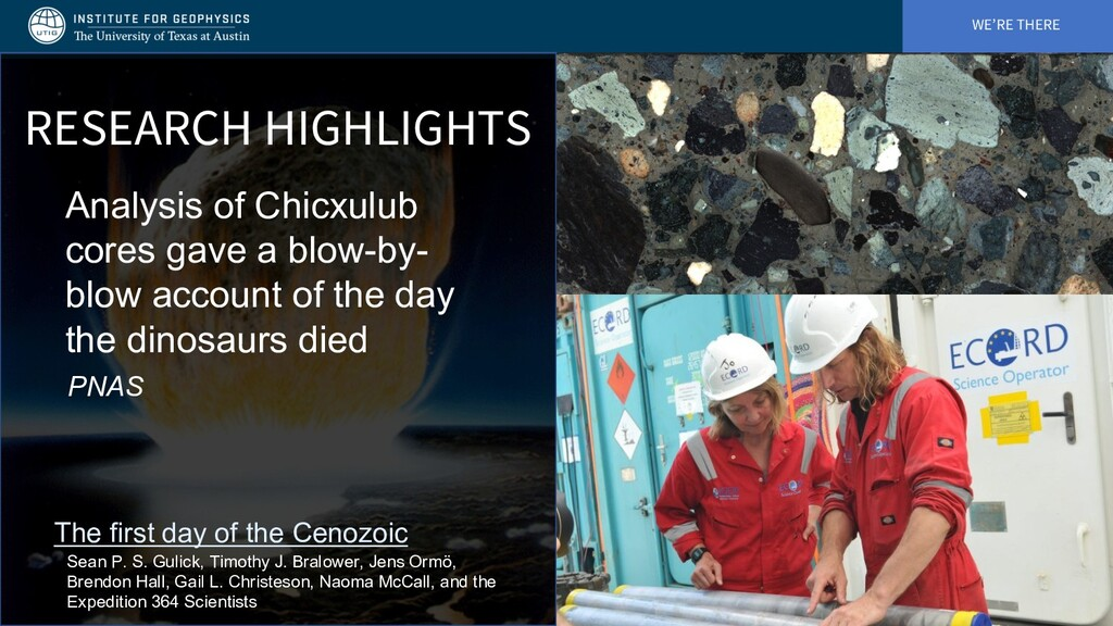 WE'RE THERE RESEARCH HIGHLIGHTS Analysis of Chi...