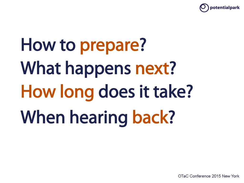 OTaC Conference 2015 New York How to prepare? W...