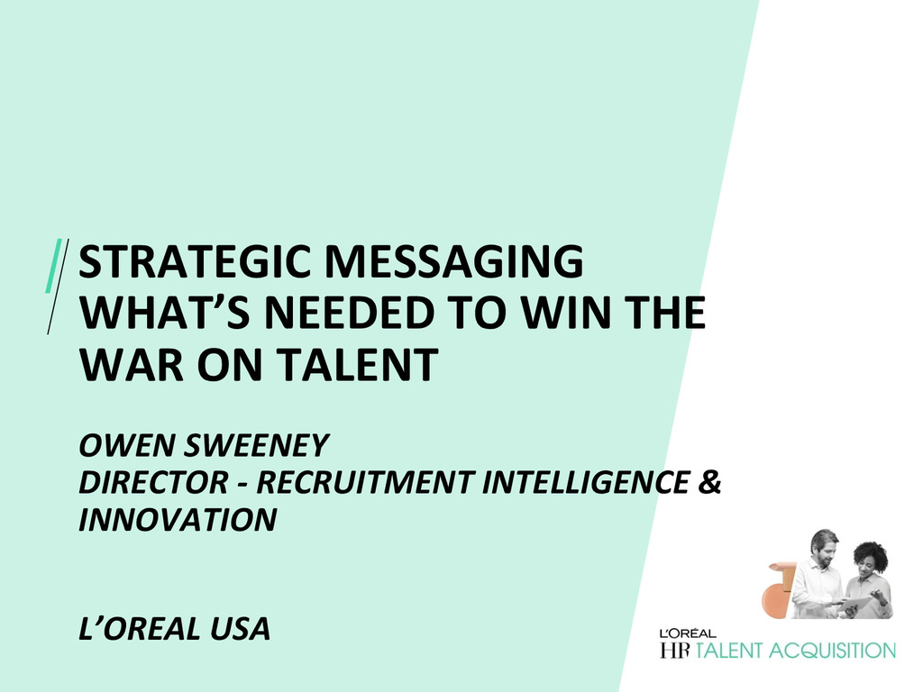 STRATEGIC MESSAGING   WHAT'S NEEDED...