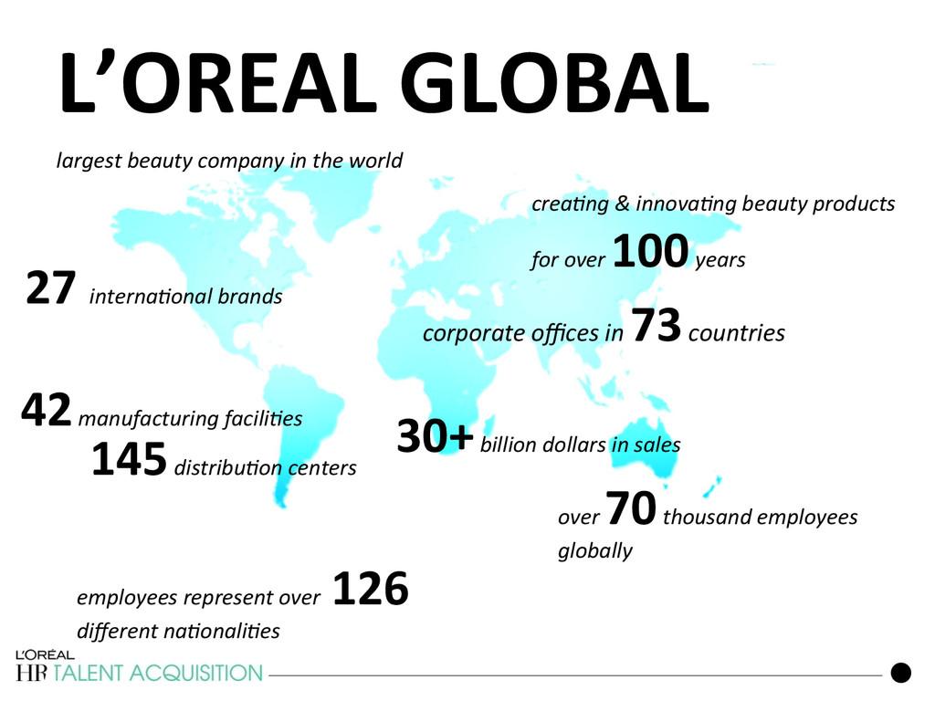 L'OREAL GLOBAL  141 crea3ng & innov...