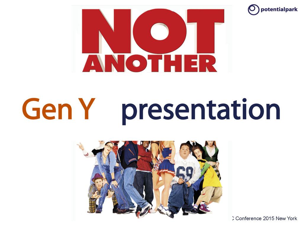 OTaC Conference 2015 New York Gen Y presentation
