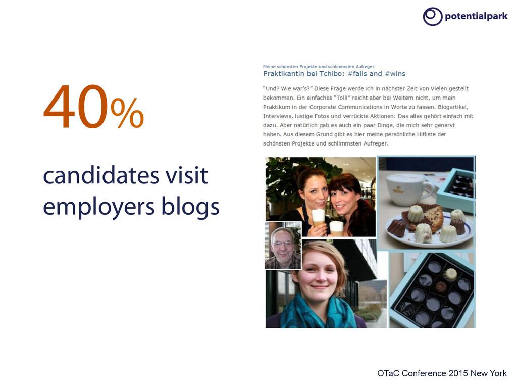 OTaC Conference 2015 New York 40% candidates vi...
