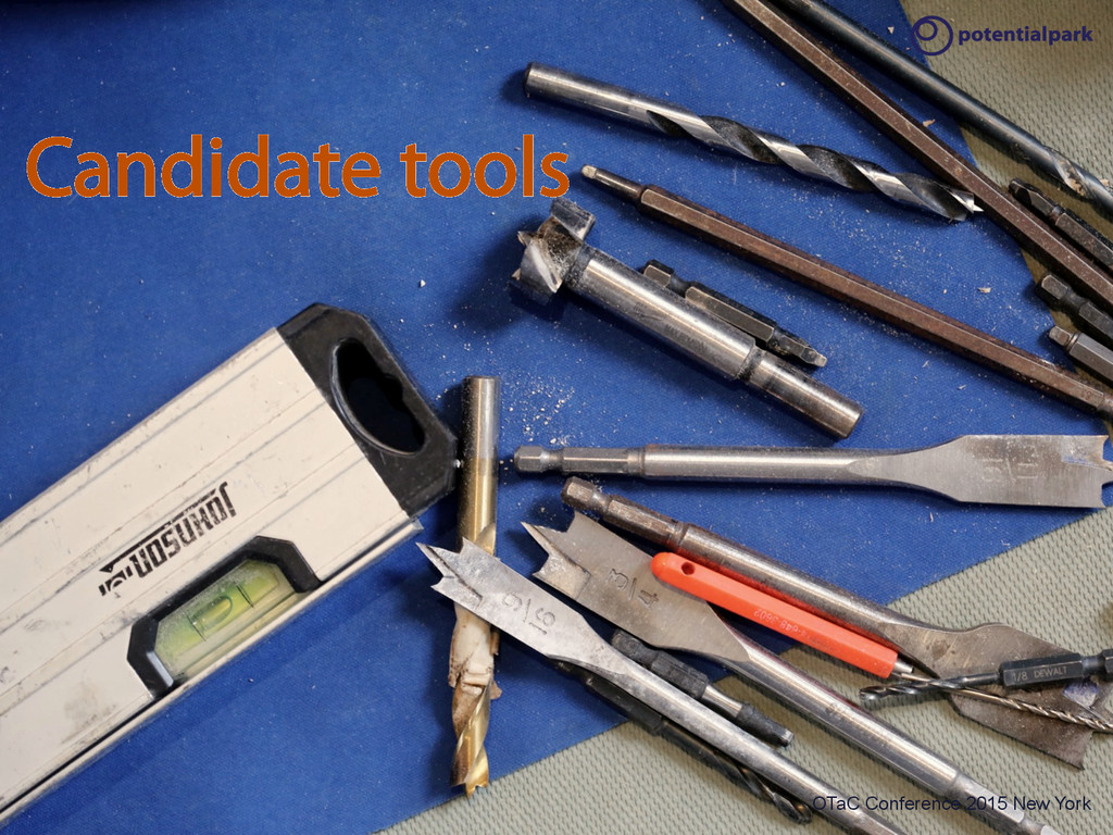 OTaC Conference 2015 New York Candidate tools O...