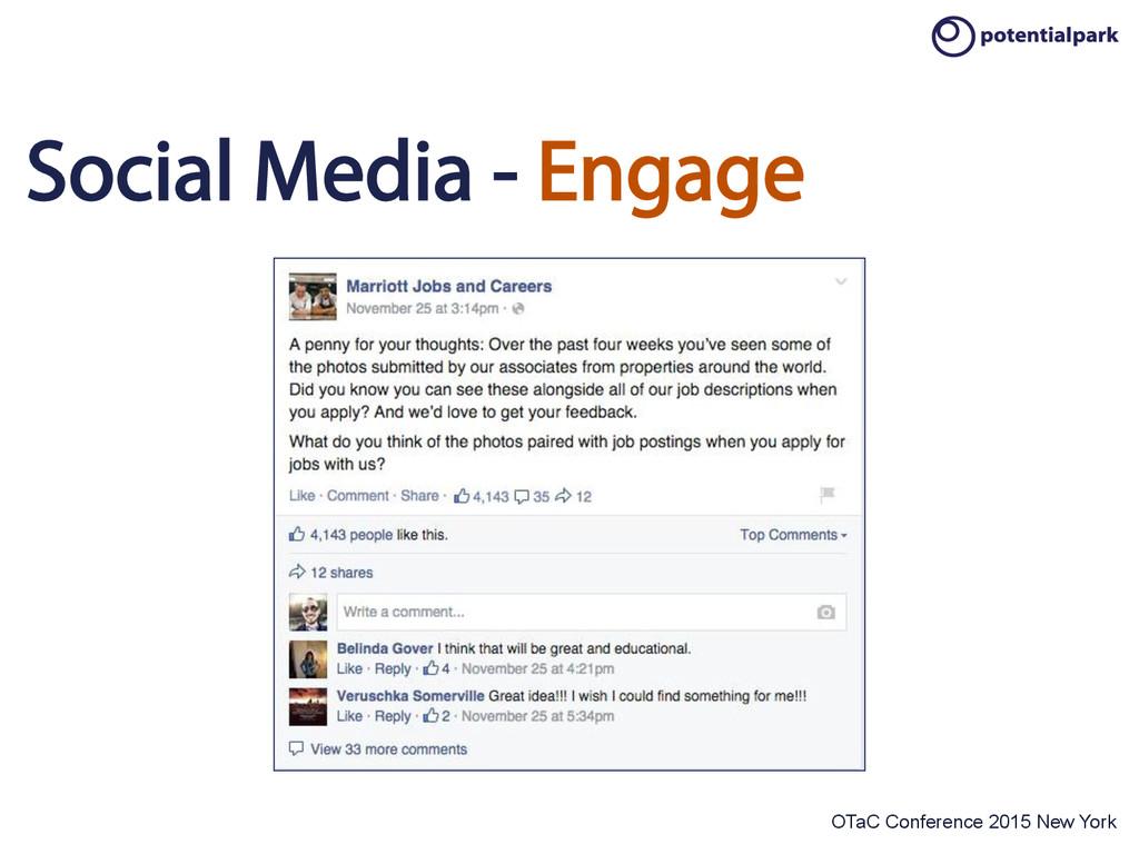 OTaC Conference 2015 New York Social Media - En...