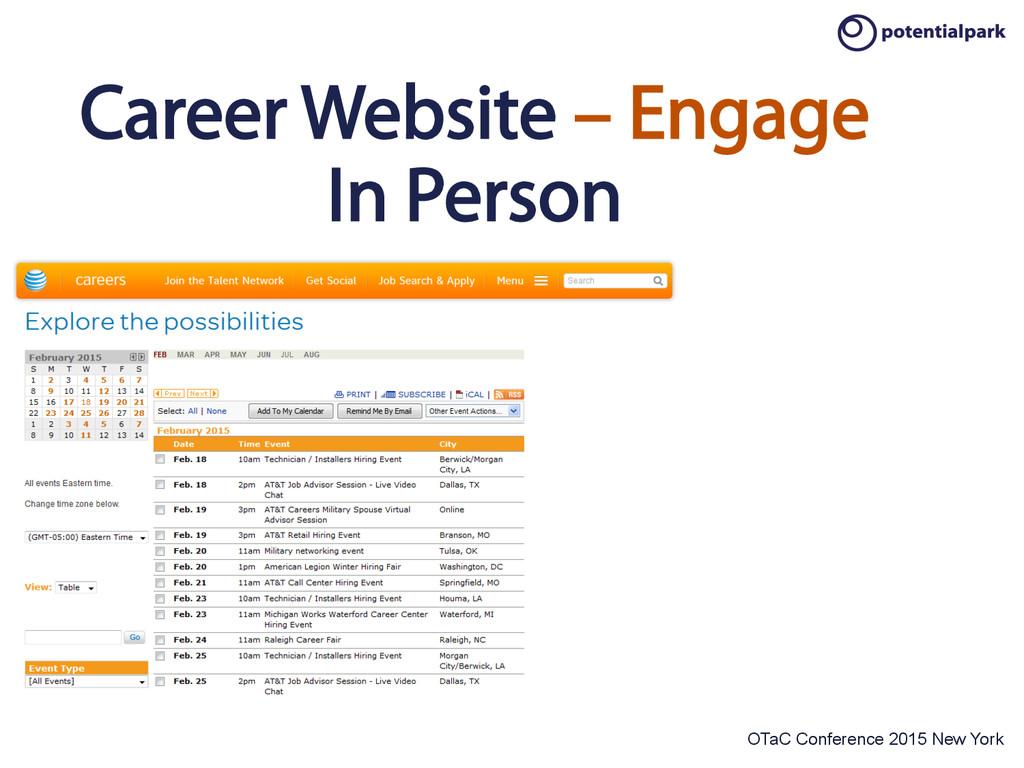 OTaC Conference 2015 New York Career Website – ...