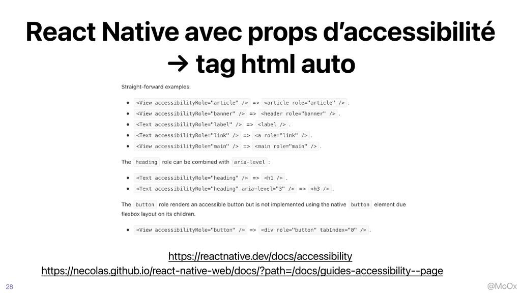 @MoOx React Native avec props d'accessibilité  ...