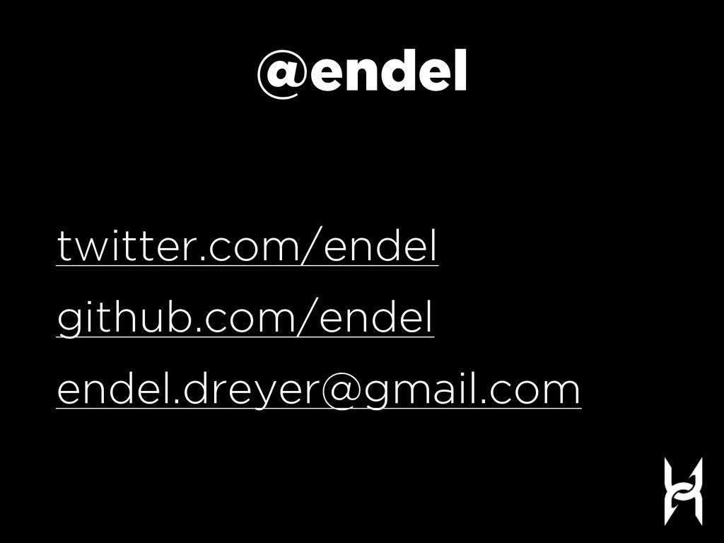 @endel twitter.com/endel github.com/endel endel...
