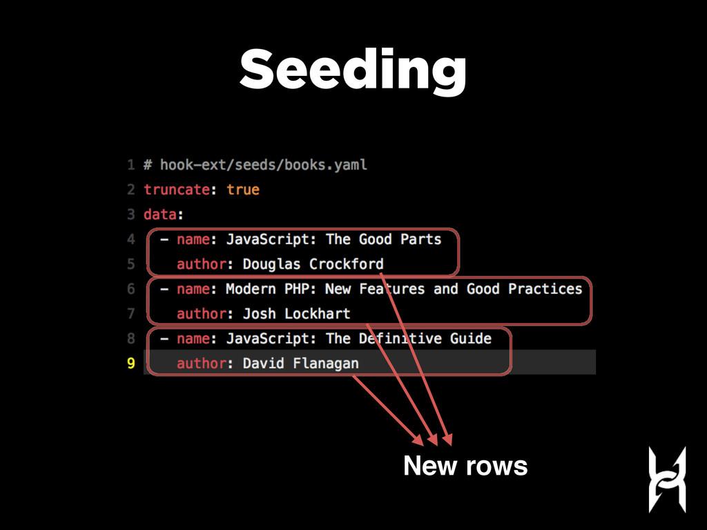 Seeding New rows