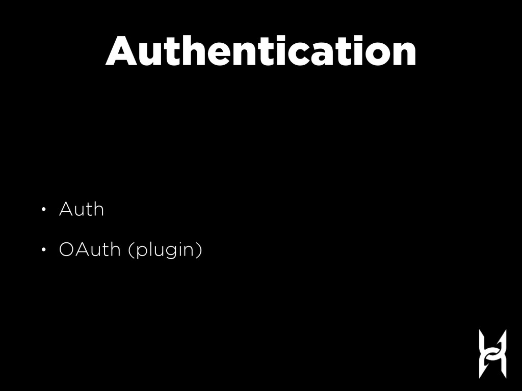 Authentication • Auth • OAuth (plugin)