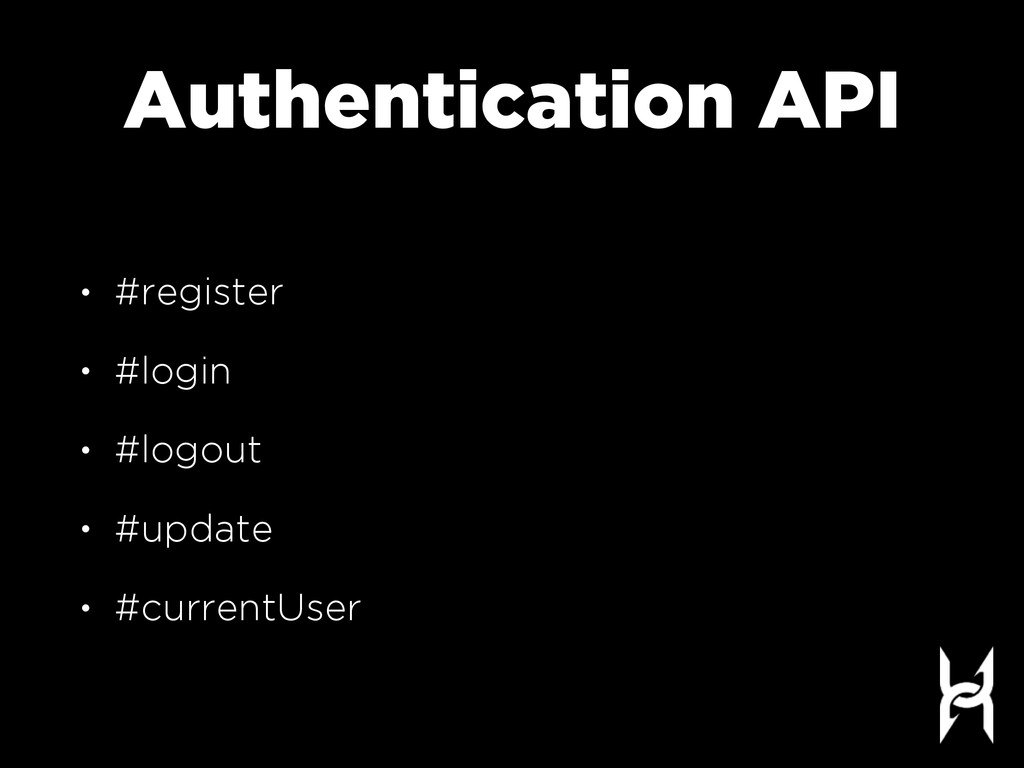 Authentication API • #register • #login • #logo...