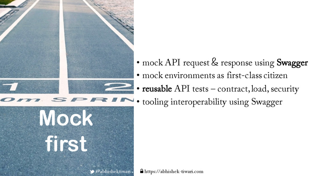 • mock API request & response using Swagger • m...