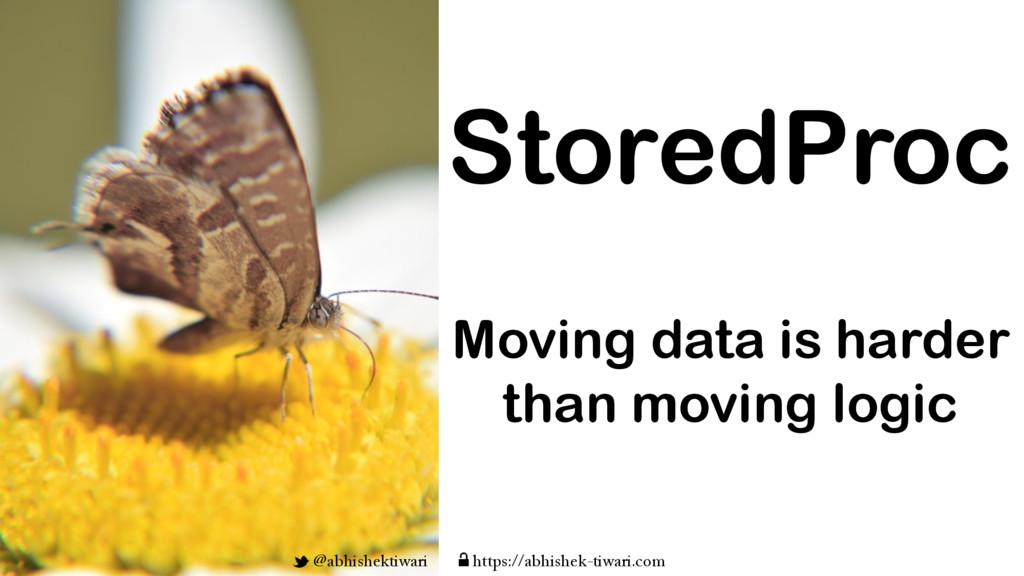 Moving data is harder than moving logic StoredP...