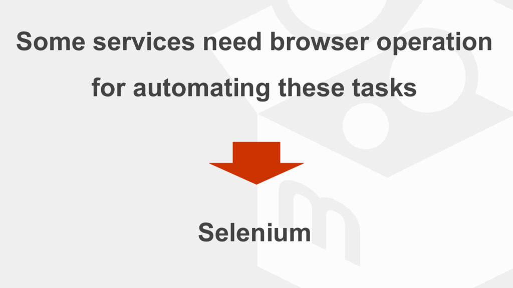 Some services need browser operation for automa...