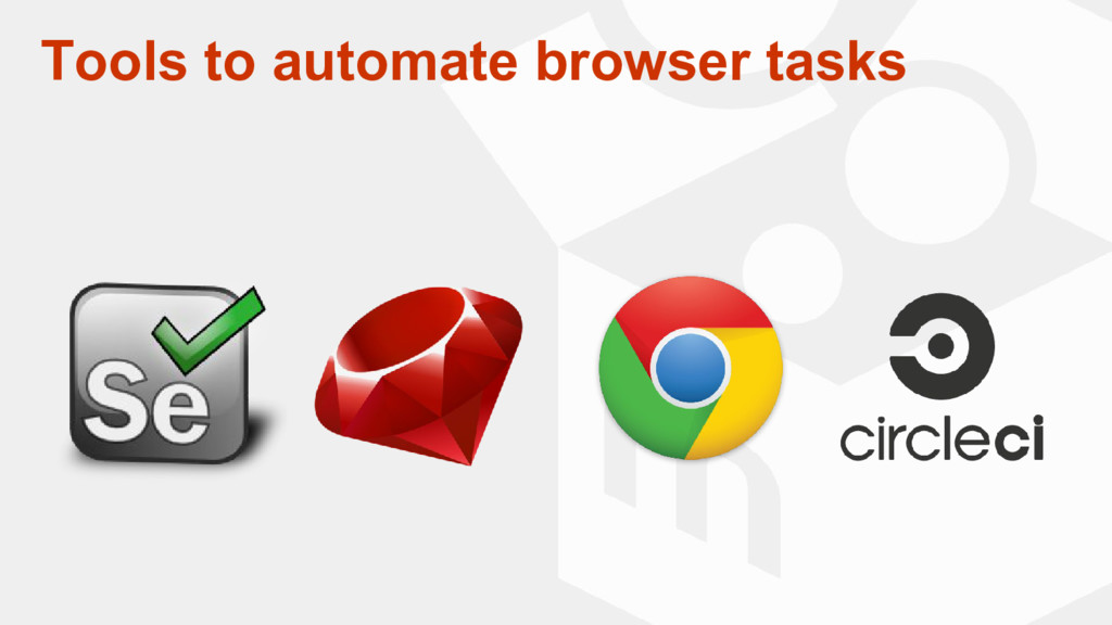 Tools to automate browser tasks