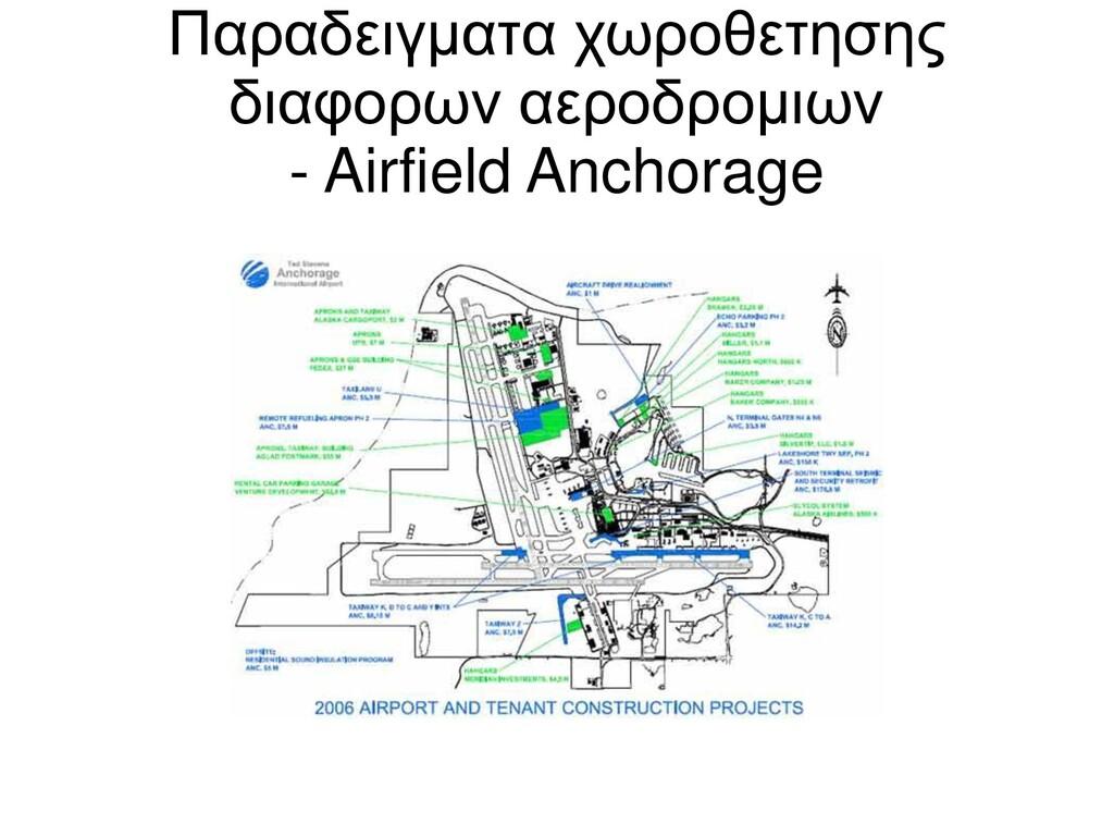 Παραδειγματα χωροθετησης διαφορων αεροδρομιων -...