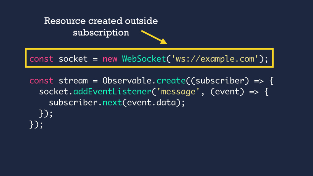 const socket = new WebSocket('ws://example.com'...