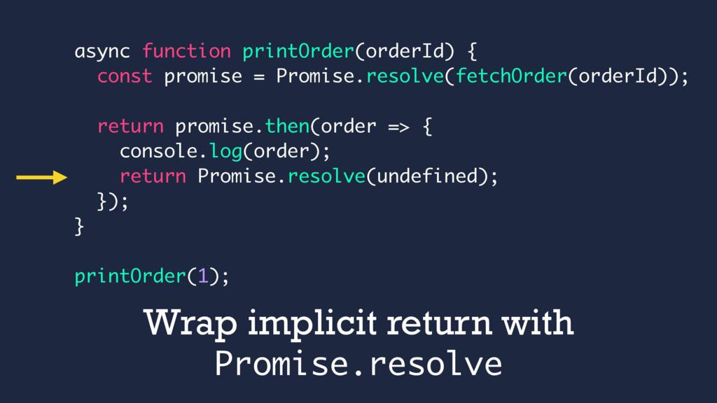 async function printOrder(orderId) { const prom...