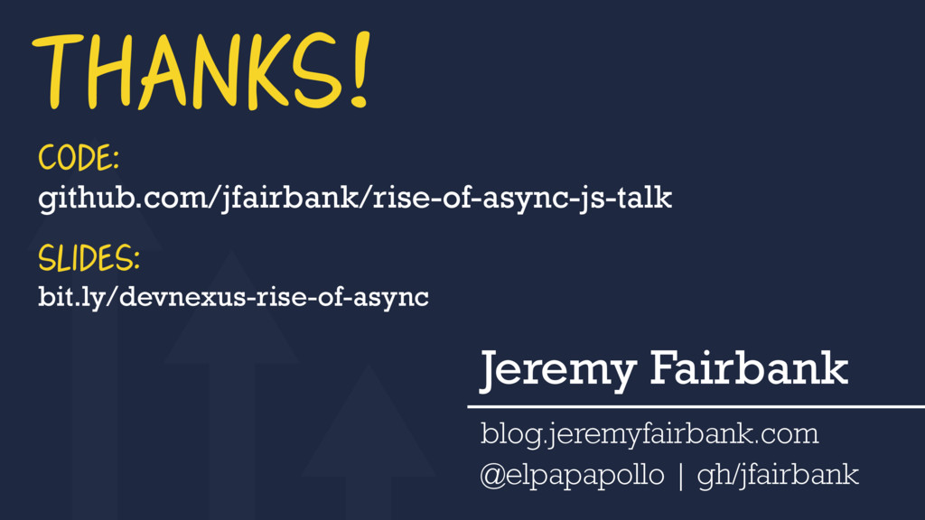 THANKS! Jeremy Fairbank blog.jeremyfairbank.com...