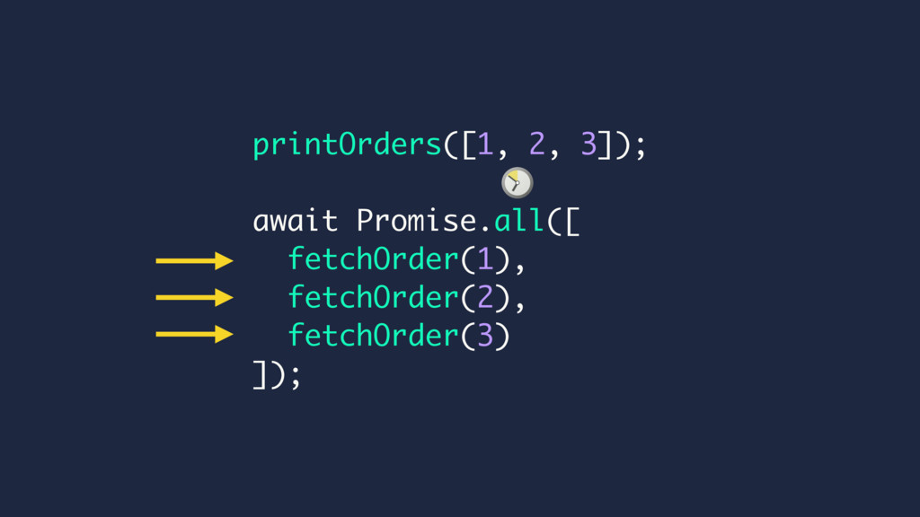 printOrders([1, 2, 3]); await Promise.all([ fet...