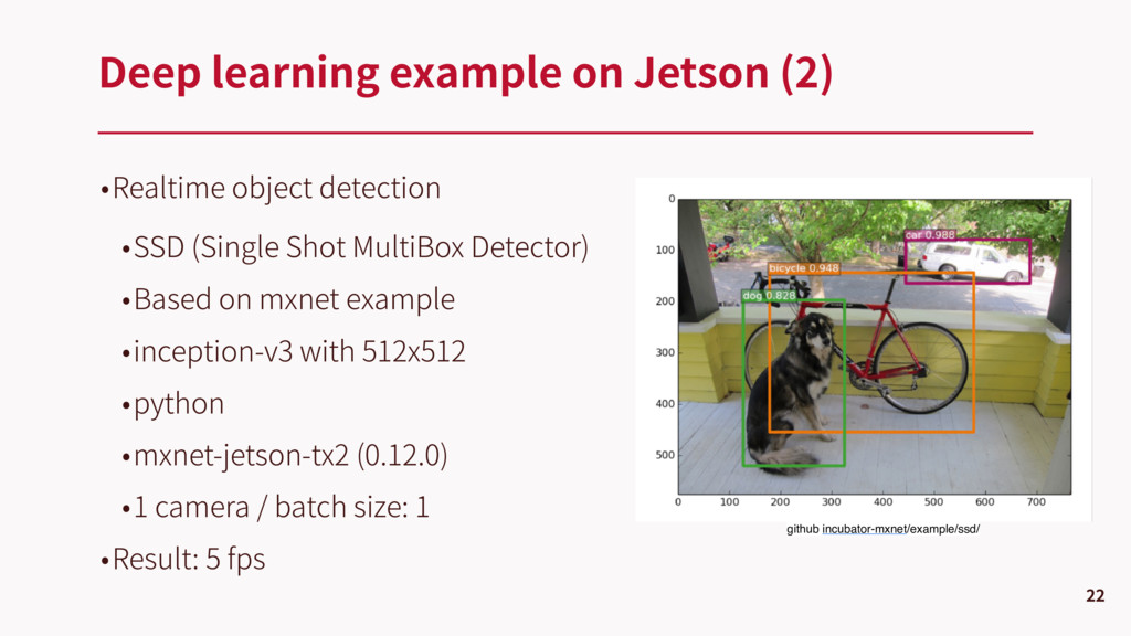 •Realtime object detection •SSD (Single Shot Mu...
