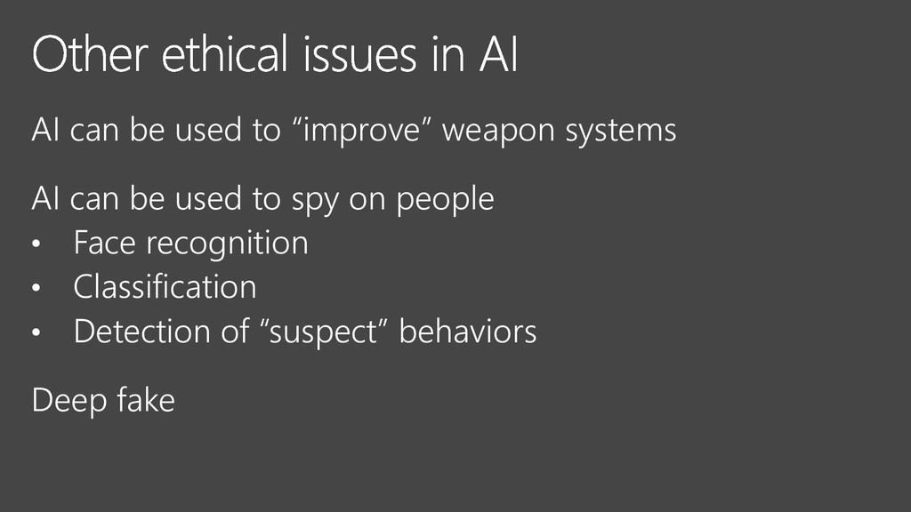 """AI can be used to """"improve"""" weapon systems AI c..."""