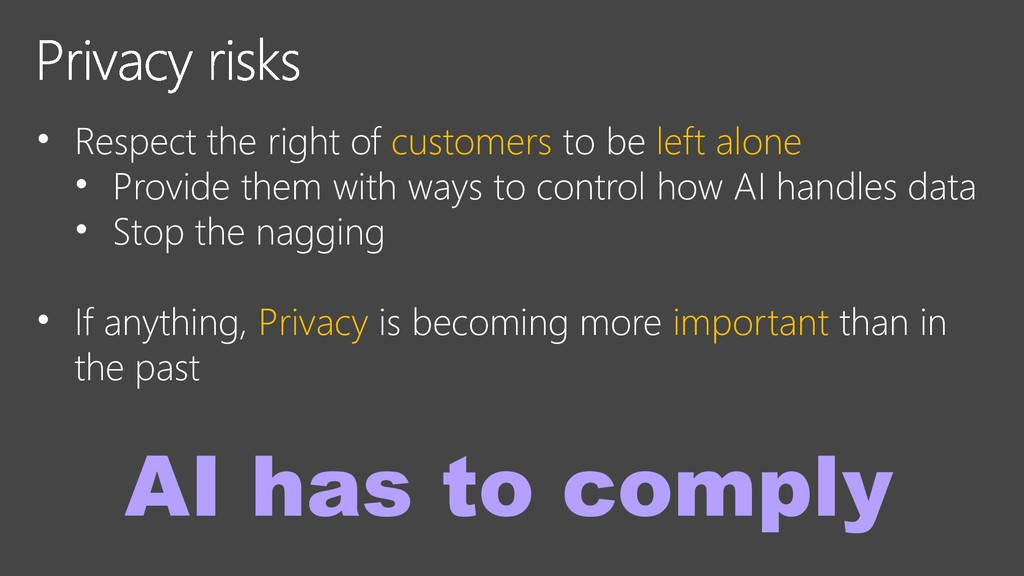 • Respect the right of customers to be left alo...