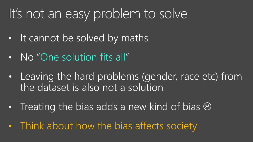 It's not an easy problem to solve • It cannot b...