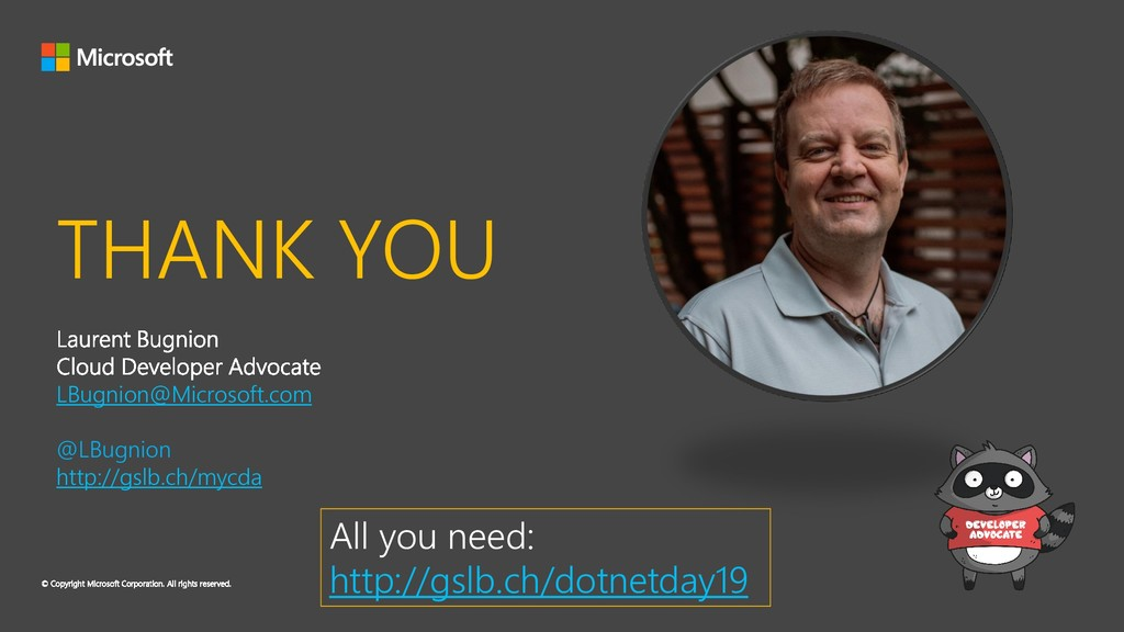 THANK YOU LBugnion@Microsoft.com @LBugnion http...