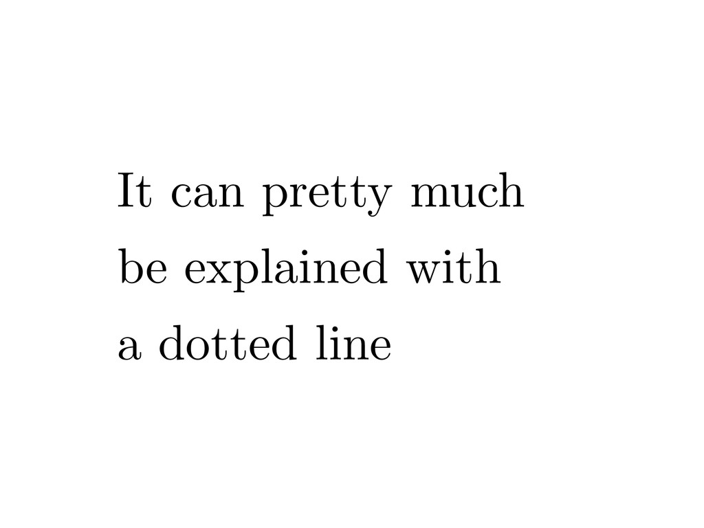 It can pretty much be explained with a dotted l...
