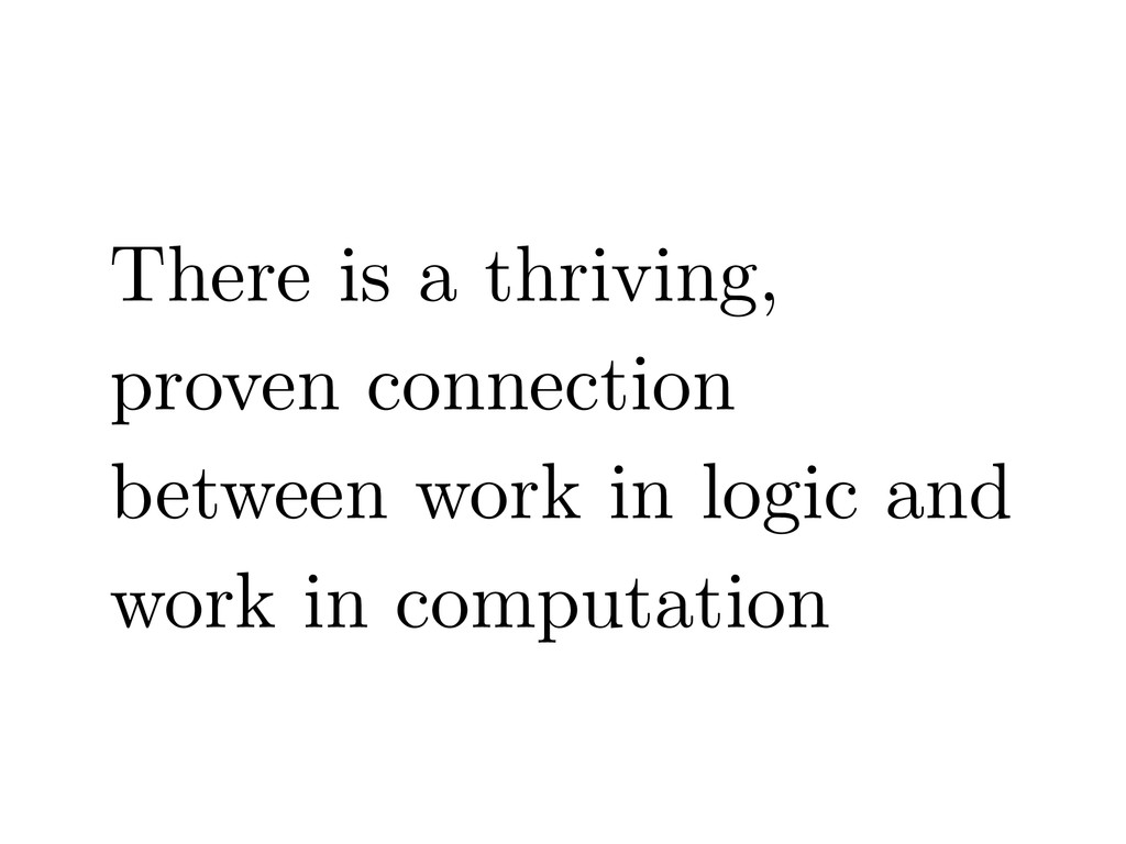 There is a thriving, proven connection between ...