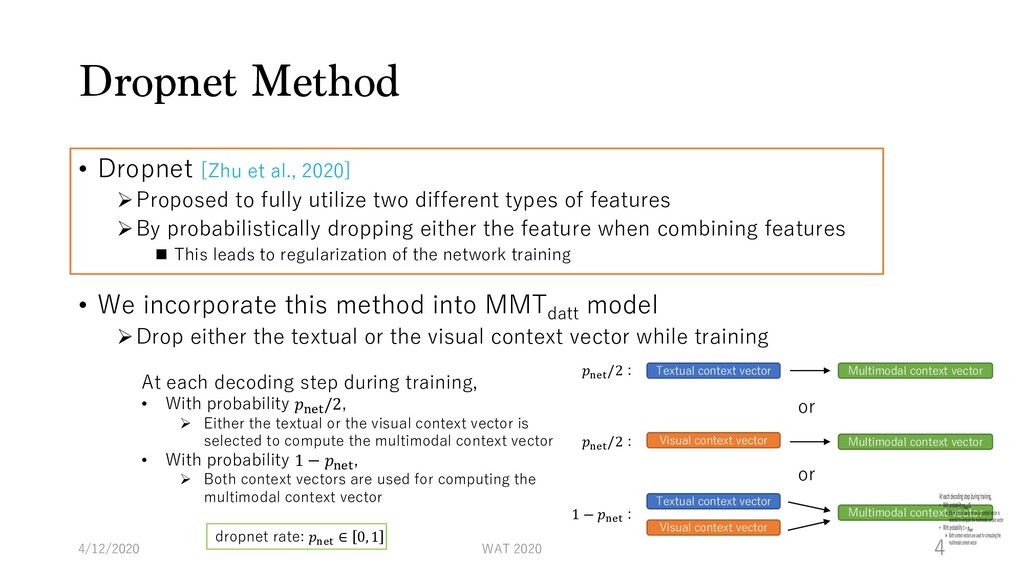 Dropnet Method • Dropnet [Zhu et al., 2020] ØPr...