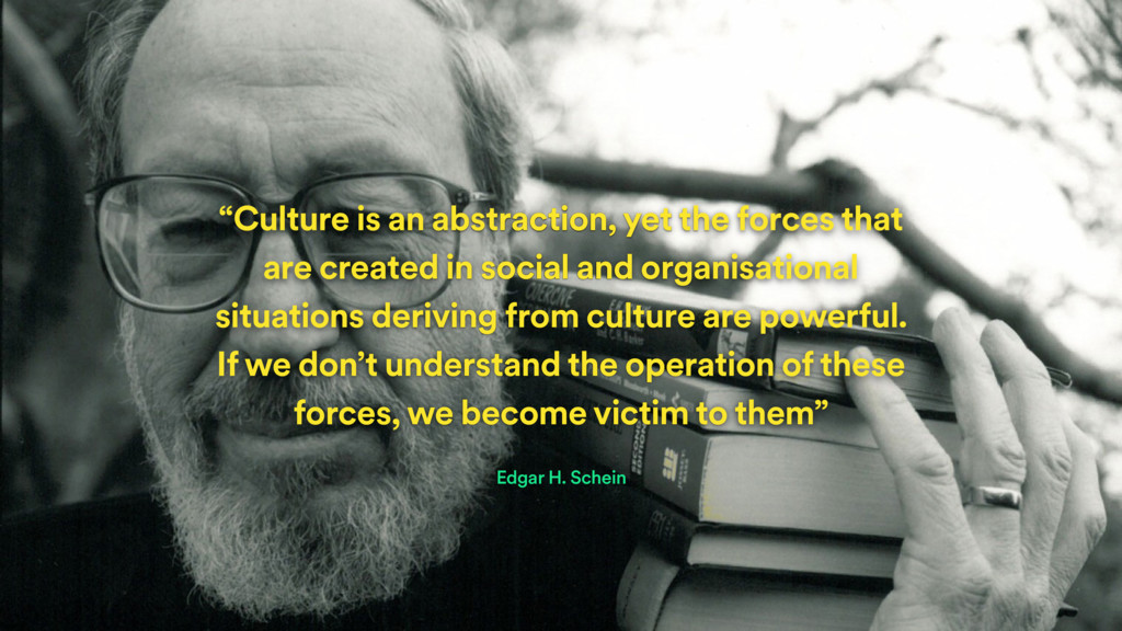 """""""Culture is an abstraction, yet the forces that..."""