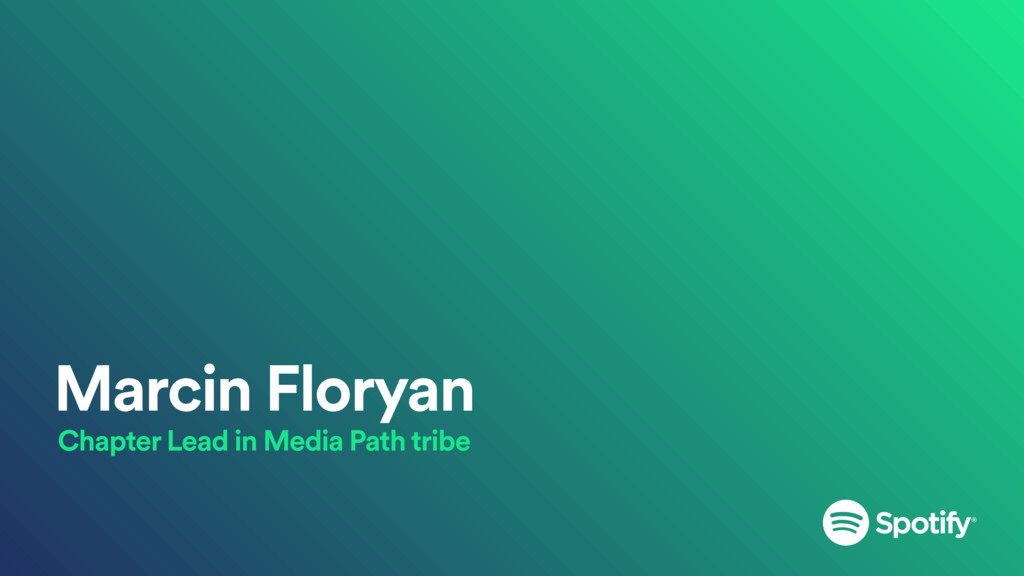 Marcin Floryan Chapter Lead in Media Path tribe