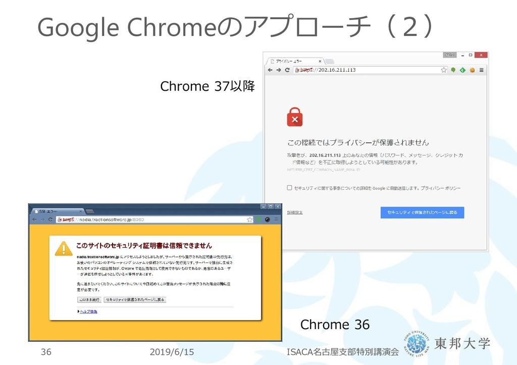 Google Chromeのアプローチ(2) 2019/6/15 ISACA名古屋支部特別講演...