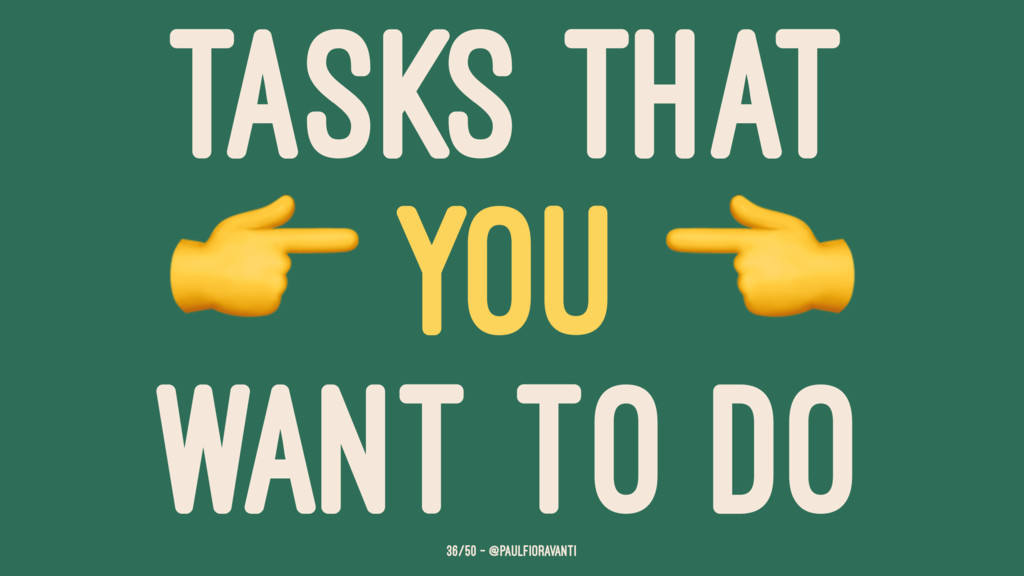 TASKS THAT ! YOU WANT TO DO 36/50 — @paulfiorav...