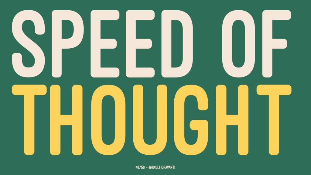 SPEED OF THOUGHT 40/50 — @paulfioravanti