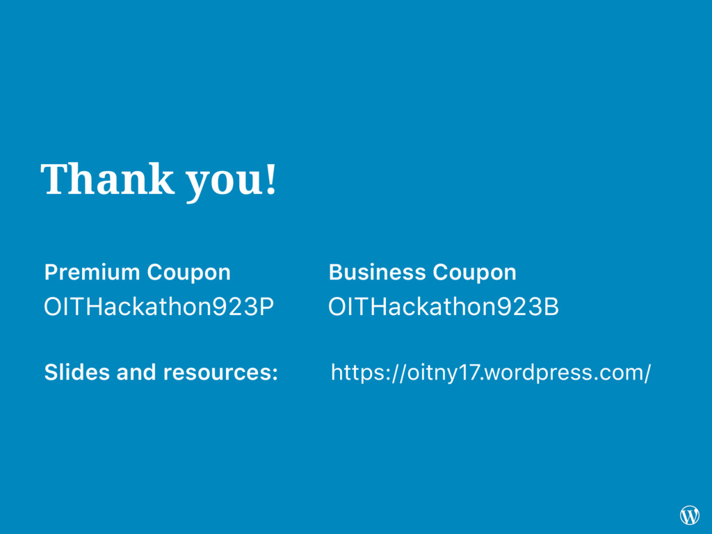 Thank you! Business Coupon Premium Coupon OITHa...