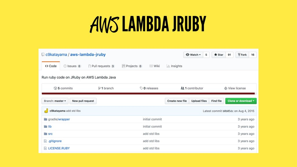 AWS LAMBDA JRUBY