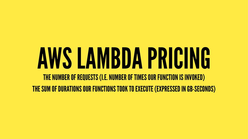 AWS LAMBDA PRICING THE NUMBER OF REQUESTS (I.E....