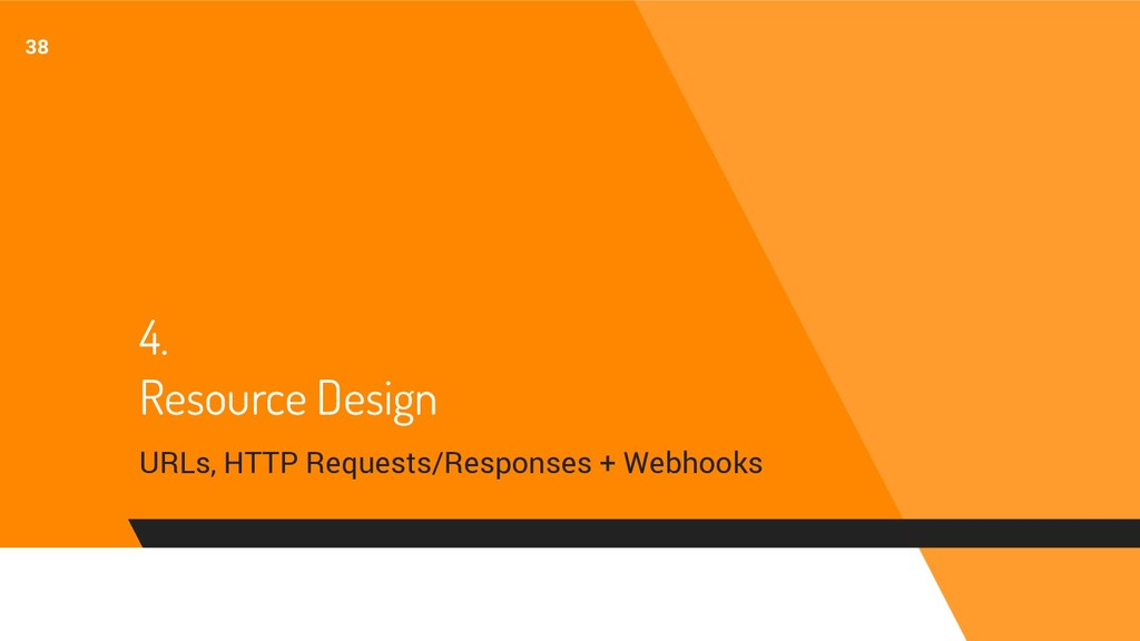 4. Resource Design URLs, HTTP Requests/Response...