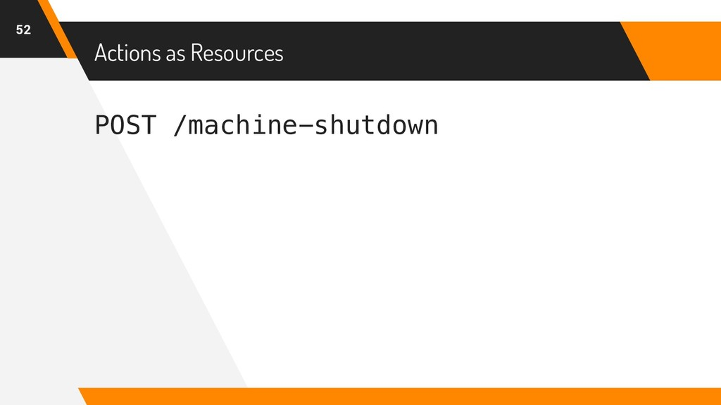 POST /machine-shutdown Actions as Resources 52