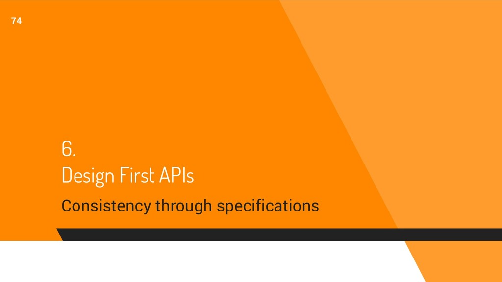 6. Design First APIs Consistency through specif...