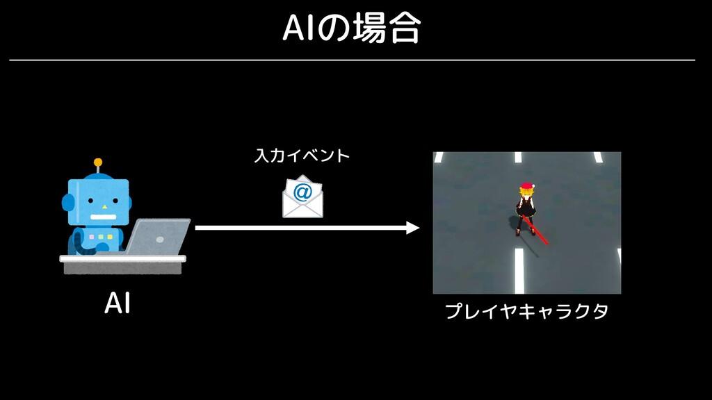 AIの場合 AI 入力イベント プレイヤキャラクタ