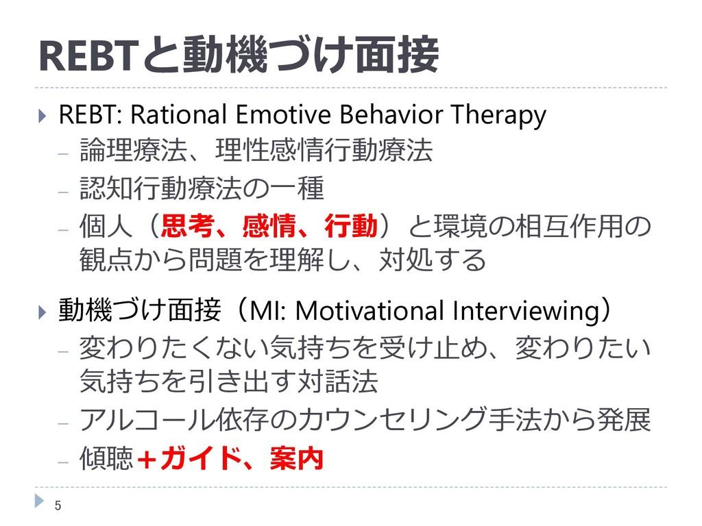 REBTと動機づけ面接  REBT: Rational Emotive Behavior T...