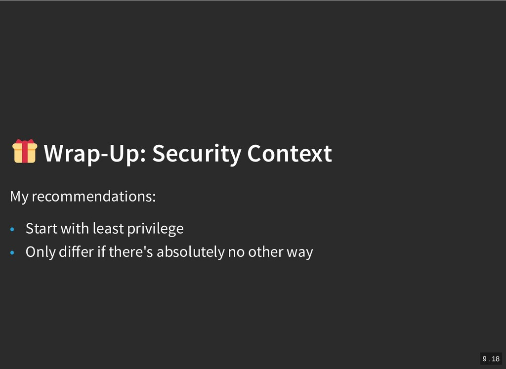 / Wrap-Up: Security Context Wrap-Up: Security C...