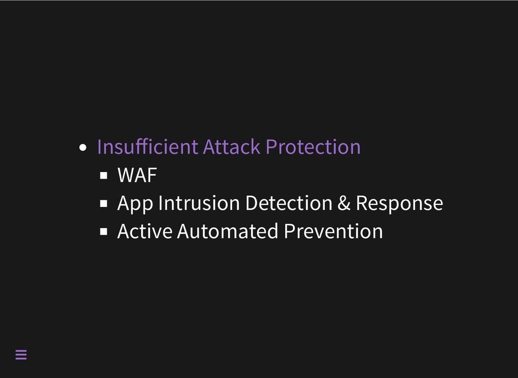 WAF App Intrusion Detection & Response Active A...
