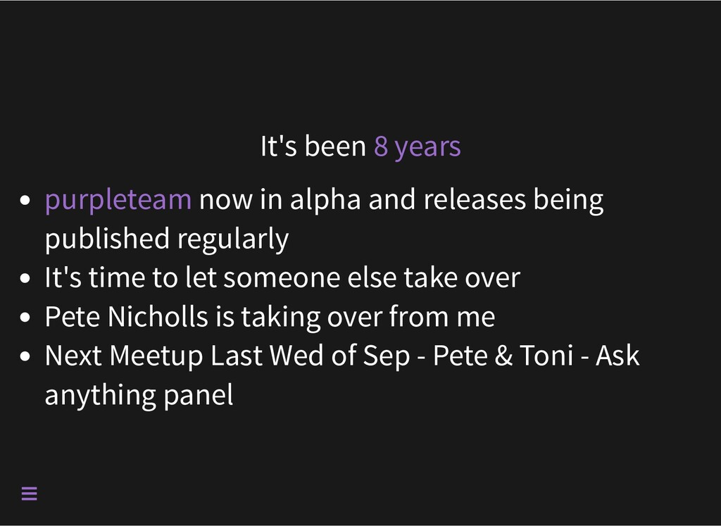 It's been 8 years now in alpha and releases bei...
