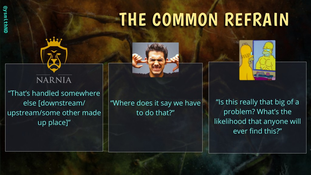"""@ysmithND THE COMMON REFRAIN """"That's handled so..."""
