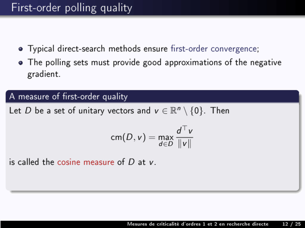 First-order polling quality Typical direct-sear...